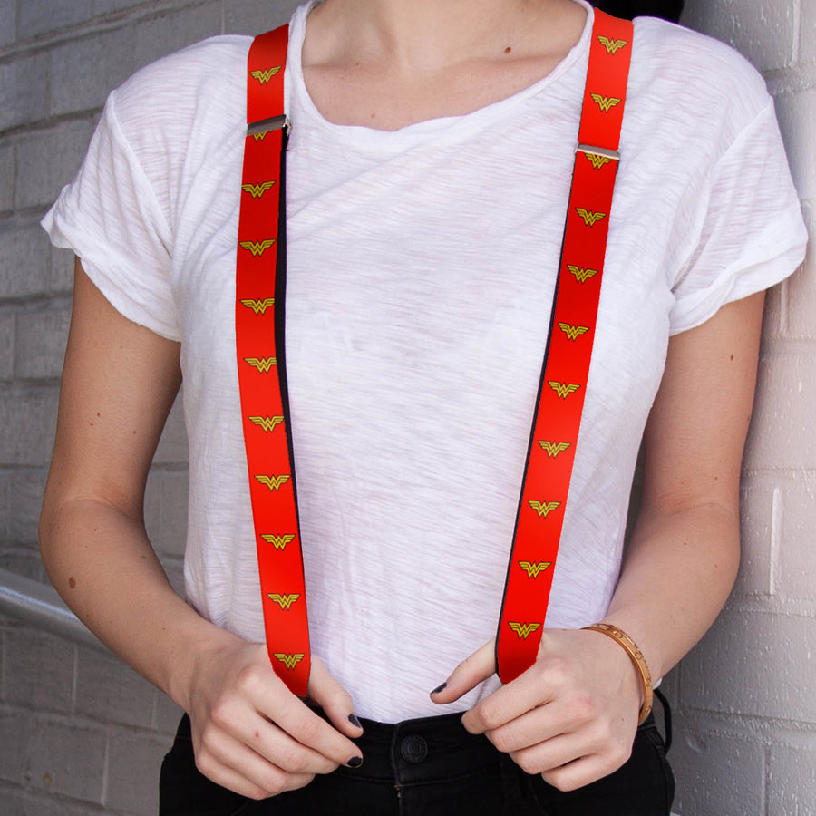 "Suspenders - 1.0"" - Wonder Woman Logo Red"