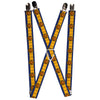 "MARVEL X-MEN Suspenders - 1.0"" - X-Men Cyclops Utility Strap Blue Gold Black Red"