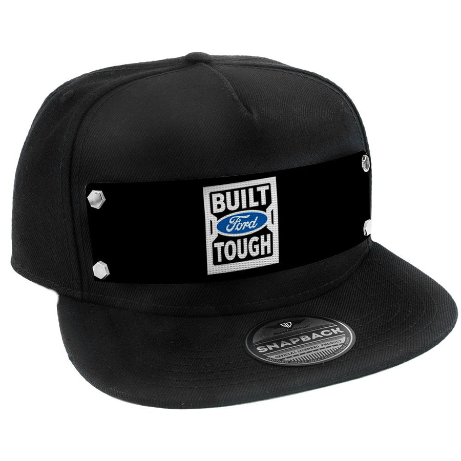 Embellishment Trucker Hat BLACK - BUILT FORD TOUGH Logo2 Black/White/Blue