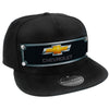Embellishment Trucker Hat BLACK - Full Color Strap - CHEVROLET Gold Bowtie Grays/Black/Gold