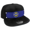 Embellishment Trucker Hat BLACK - Full Color Strap - CHEVROLET SUPER SERVICE Logo Blue/White/Yellow