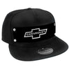 Embellishment Trucker Hat BLACK - Full Color Strap - 1965 CHEVROLET Bowtie Black/White