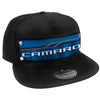 Embellishment Trucker Hat BLACK - Full Color Strap - CAMARO SS Abstract Blues/Orange/White