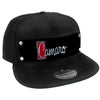 Embellishment Trucker Hat BLACK - Full Color Strap - 1972 CAMARO Script Emblem Black/Silver/Reds