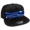 Embellishment Trucker Hat BLACK - Full Color Strap - MUSTANG/Pony Sideview Blueprint Blue/White