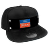 Embellishment Trucker Hat BLACK - FORD TRUCKS Logo2 Black/White/Blue/Red
