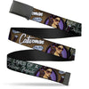 Black Buckle Web Belt - CATWOMAN-NINE LIVES OF A FELINE FATALE Bombshell Pose/Diamonds Webbing
