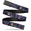 Black Buckle Web Belt - CATWOMAN-NINE LIVES OF A FELINE FATALE Pose2/Jewelry/Black Cat Purples Webbing
