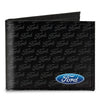 Canvas Bi-Fold Wallet - Ford Oval CORNER w/Text