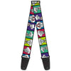 Guitar Strap - Bugs Bunny Expression Blocks Multi Color