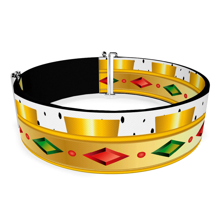 Cinch Waist Belt - Robin Hood Prince John Crown Bounding White Gold Red Green