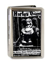 Business Card Holder - LARGE - HARLEY QUINN Pose METROPOLIS WILL NEVER BE THE SAME FCG Black Grays White