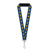 "MARVEL X-MEN Lanyard - 1.0"" - Wolverine Mask Icon Blue Black Yellow"