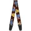 Guitar Strap - Winnie the Pooh Character Poses