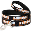 Dog Leash - HEMI POWERED Logo Repeat Black/Orange/White/Gray