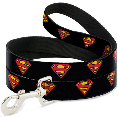 Dog Leash - Superman Shield Black