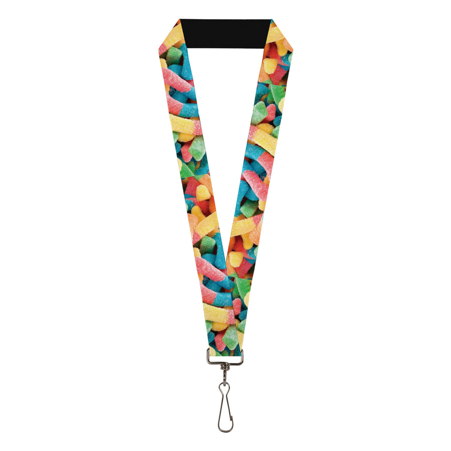 "Lanyard - 1.0"" - Vivid Sour Worms Stacked"