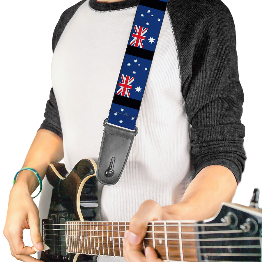 Guitar Strap - Australia Flags