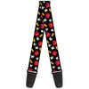 Guitar Strap - Mickey Mouse Costume Elements Scattered Black