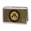 Business Card Holder - LARGE - Harry Potter Wizengamot Logo IGNORANTIA JURIS NEMINEM EXCUSAT FCG Browns