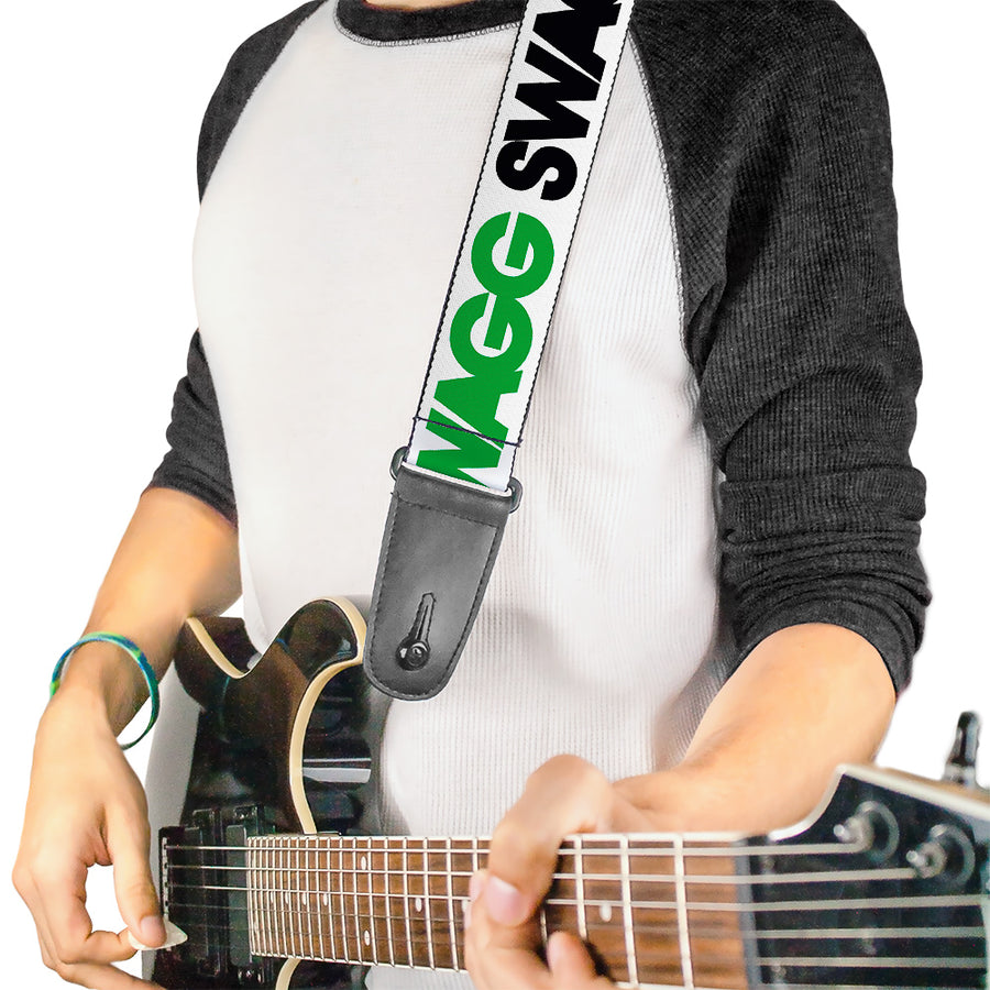 Guitar Strap - SWAGG White Black Green