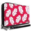Women's PU Zip Around Wallet Rectangle - Lilo & Stitch Bounding Lilo Dress Leaves Red White