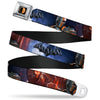 Deadstroke Logo Full Color Black Red White Seatbelt Belt - DEATHSTROKE Pose/BATMAN ARKHAM ORIGINS Logo Webbing