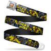 MARVEL COMICS Marvel Comics Logo Full Color Seatbelt Belt - Retro LUKE CAGE HERO FOR HIRE Action Pose Grays/Purple/Yellow/White Webbing