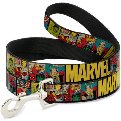 Dog Leash - MARVEL/Retro Comic Panels Black/Yellow
