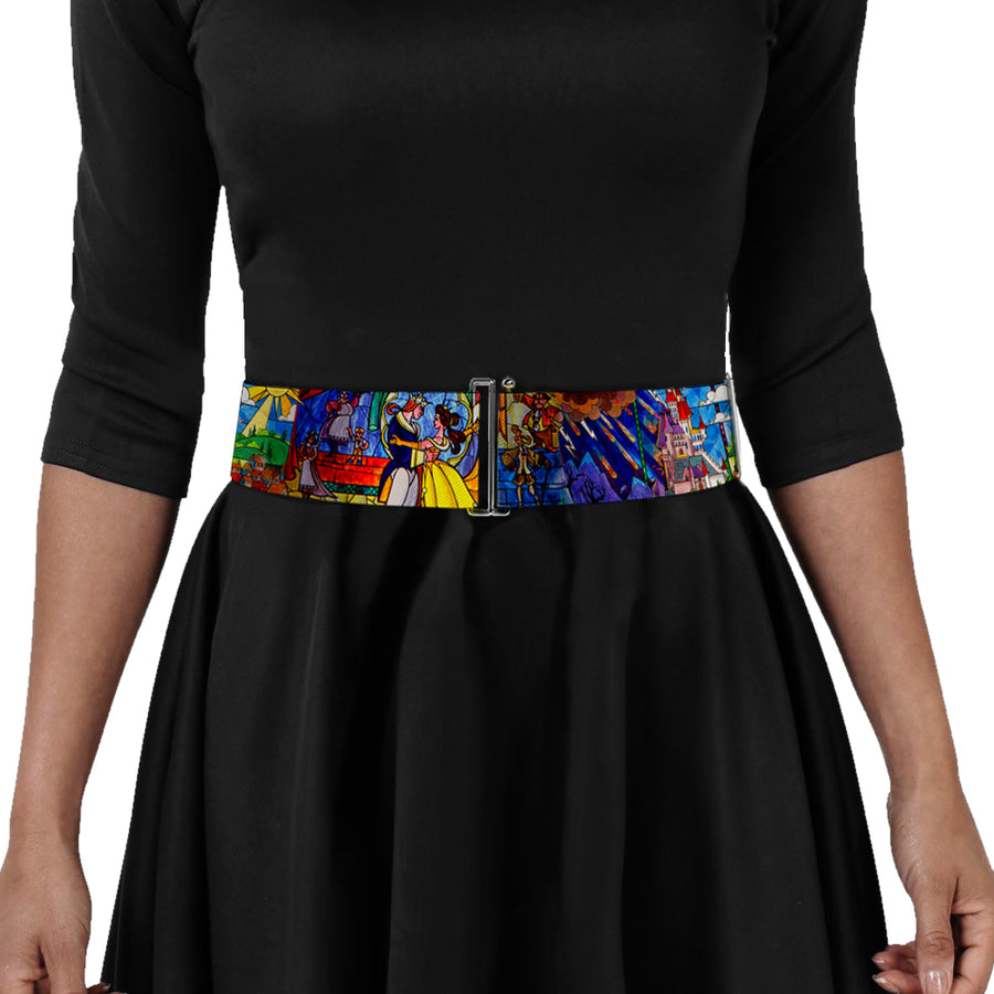 Cinch Waist Belt - Beauty & the Beast Stained Glass Scenes