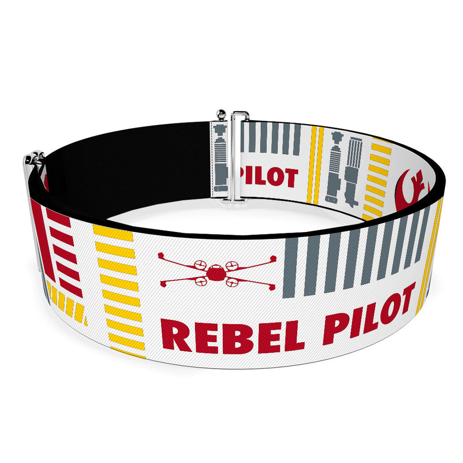 Cinch Waist Belt - Star Wars REBEL PILOT Rebel Alliance Insignia Lightsaber X-Wing Fighter White Red Yellow Gray