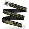 FORD Oval Full Color Black Tan Olive Seatbelt Belt - FORD F-150 WORKS HARD, PLAYS HARDER./Stars Black/Tan/Olive Webbing