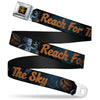 Woody Sherriff Star Reverse Brushed Gold Seatbelt Belt - Woody REACH FOR THE SKY Denim Blue Print Webbing