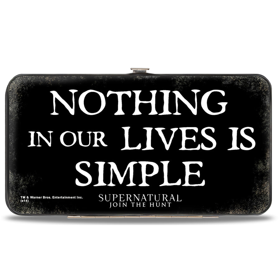 Hinged Wallet - Dean, Sam & Castiel Group + NOTHING IN OUR LIVES IS SIMPLE-SUPERNATURAL