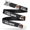 Grumpy Cat Face Full Color Black Seatbelt Belt - Grumpy Cat I HAD FUN ONCE-IT WAS AWFUL Webbing