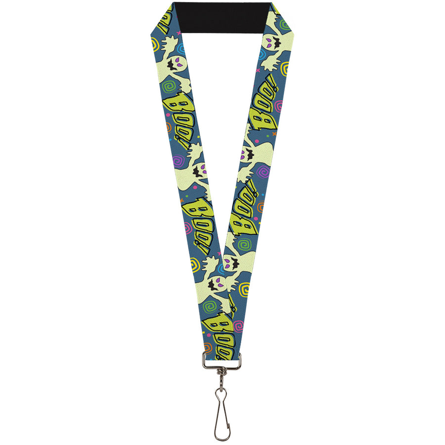 "Lanyard - 1.0"" - Ghost BOO! Blue Multi Color"