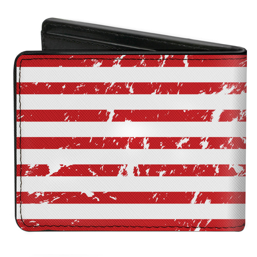 Bi-Fold Wallet - RAM Logo Americana Flag Weathered White Red Blue