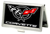 Business Card Holder - SMALL - Corvette FCG Black White Red