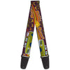 Guitar Strap - Vintage Ford Bronco-BUCKIN' BRONCO Wine Red Orange Green