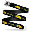 CARS 3 Emblem Full Color Black Silver Red Seatbelt Belt - Cars 3 CRUZ Car Profile Black/Blue/Yellow Webbing