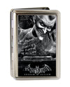 Business Card Holder - LARGE - BATMAN ARKHAM ASYLUM Joker Pose Brushed Silver