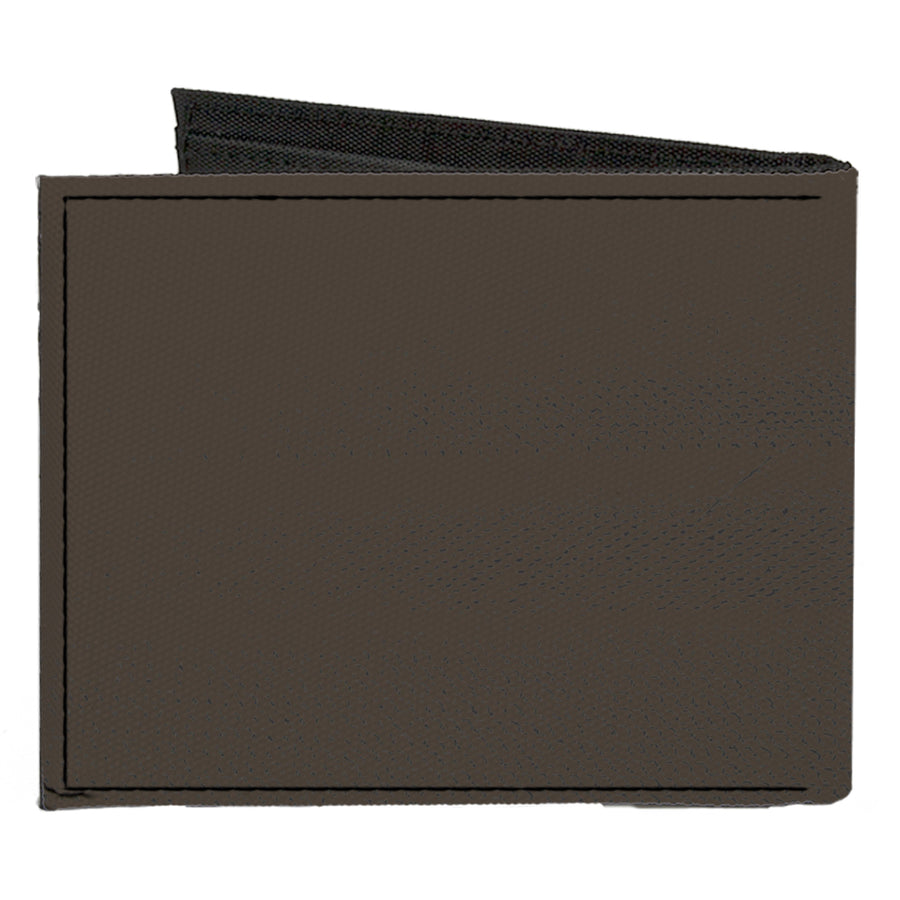 Canvas Bi-Fold Wallet - Corvette C1 Emblem Charcoal Gray