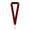 "Lanyard - 1.0"" - Harley Quinn Diamond Blocks Red Black Black Red"