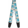 Guitar Strap - Anna Snowflakes Frozen Art Collection Poses