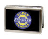 Business Card Holder - LARGE - CHEVROLET SUPER SERVICE Logo FCG Black Blue Yellow White