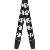 Guitar Strap - Nightmare Before Christmas Jack Expressions Gray