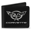 Bi-Fold Wallet - Corvette Black Silver CENTERED