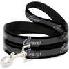 Dog Leash - 1969 CAMARO BY CHEVROLET Emblem/Stripe Black/Gray/Silver