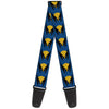 MARVEL X-MEN Guitar Strap - Wolverine Mask Icon Blue Black Yellow