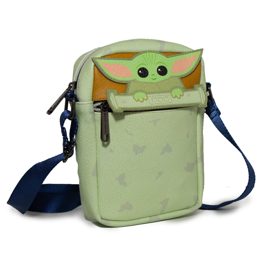 Women's Crossbody Wallet - Star Wars The Child Chibi Peeking Pose